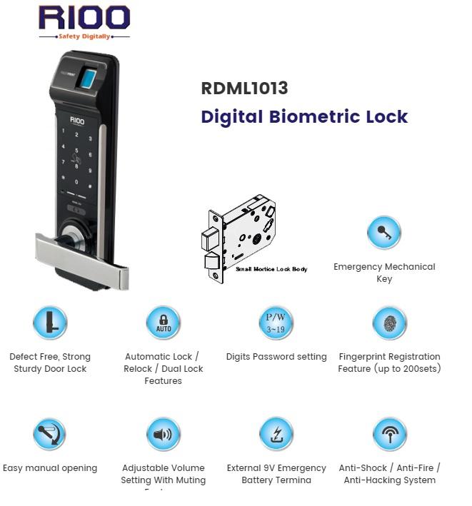 Digital RFID & Bio-metric Door Lock 1013