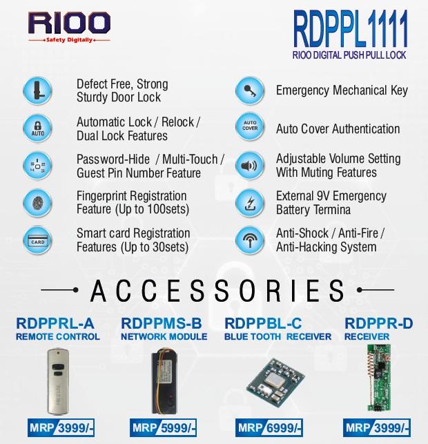 Digital RFID & Bio-metric Door Lock 1111